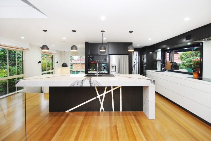 Glass Bench tops, Office fit-out Canberra